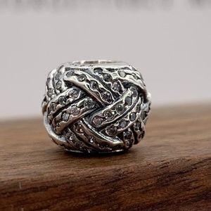 Pandora Sparkling Love Knot Charm #791537CZ